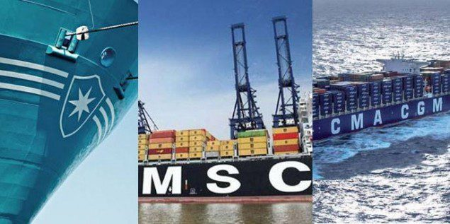 maersk line cma cgm msc mediterranean shipping company