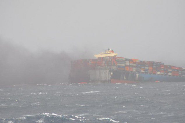 MOL Comfort breaks in half, June 17, 2013.