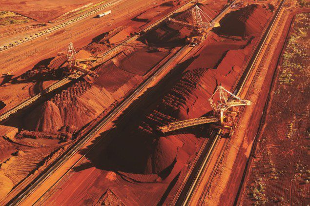 Iron ore at Port Hedland file photo.