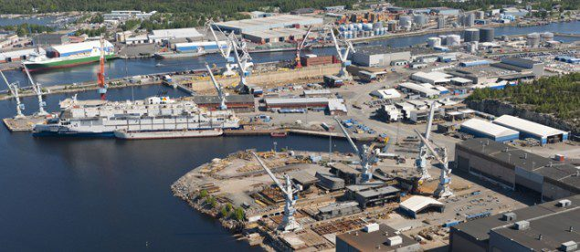 File photo of STX Finland's Rauma shipyard. Photo courtesy STX Finland