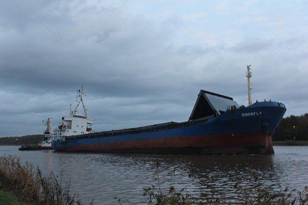 MV Siderfly pictured November 6, 2013 in Germany's Kiel Canal. Image courtesy CCME